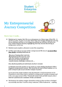 My Entrepreneurial Journey Entry Form