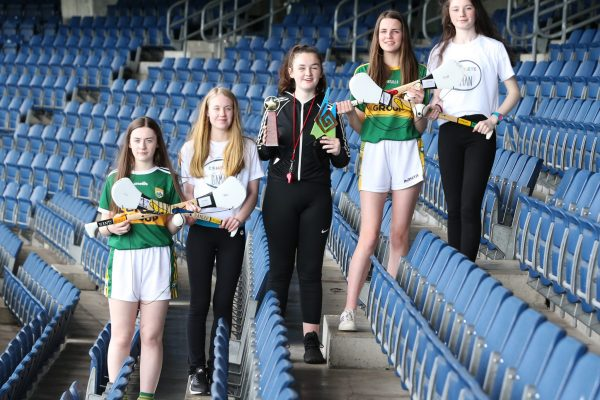 NO REPRO FEE 02/05/2018 16th annual Local Enterprise Offices' Student Enterprise National Finals in Croke Park. Pictured are (LtoR) Katie Cotter (13), Fiona Brosnan (13), Chantelle Broderick (13), Joanna Moynihan, (14) and Tara Enright (13) from Presentation Secondary School, CastleIsland, Co. Kerry, won top award in the Junior Category, Manus Heenan (17) from Cistercian College, Roscrea, Co Offaly, won top award in the Senior Category and Matthew O'Sullivan (14), John O'Brien (15) and Edward Daly (14) from CBS Kilknney, won top award in the Intermediate Category 16th annual Local Enterprise Offices' Student Enterprise National Finals in Croke Park. Since last September, 23,600 budding entrepreneurs from 480 secondary schools have been researching, setting up and running their own enterprises, with support from their Local Enterprise Offices in local authorities. At the National Finals in Croke Park, 230 students from 77 different enterprises were competing in the biggest competition of its kind in the country.  Funding for the Local Enterprise Office-run programme is provided by the Government of Ireland through Enterprise Ireland and the special guest at this year's ceremony was the Minister for Trade, Employment, Business, EU Digital Single Market and Data Protection, Pat Breen T.D. The 2018/2019 LEO-run programme starts in September, with full details available at www.studententerprise.ie Photo: Sasko Lazarov/Photocalireland